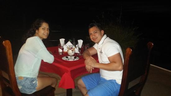 Playa Yankee, Nicaragua: Dinner under the moon