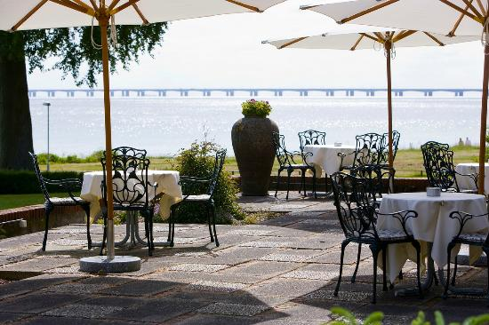 Hotel Hesselet: Terrace Sea view