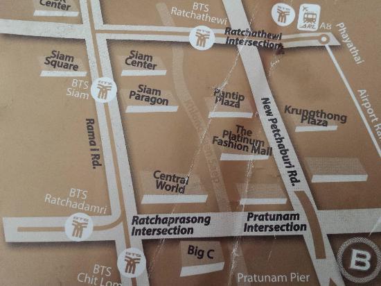 The Berkeley Hotel Pratunam Map Took From