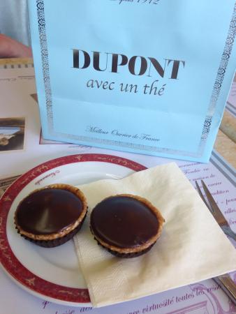 Dupont avec un thé : Pâtisserie dupont deauville