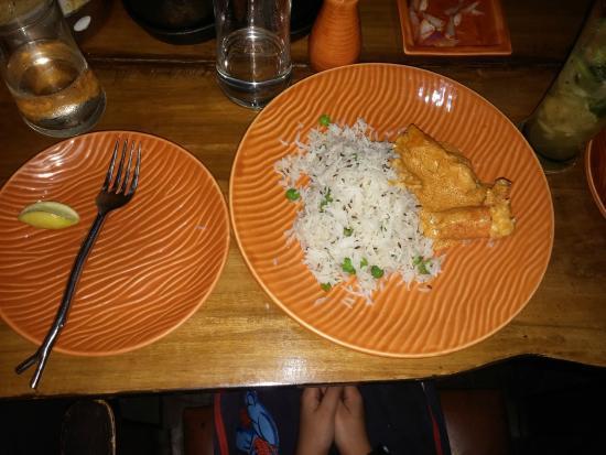 Machan: Pulao and prawn malaicurry