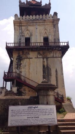 Amarapura, Burma: Leaning Tower of Inwa