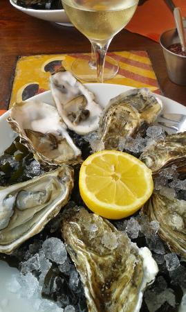 Les Sablons : plateau d'huîtres
