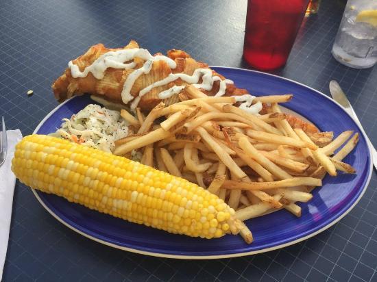 Dug's Dive: Budweiser & potato chip battered haddock