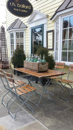 Washington, VA: Vintage German Cafe Table, Chairs, Seltzer Bottles