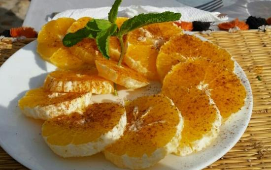 Dar Tata: postre naranjas con canela