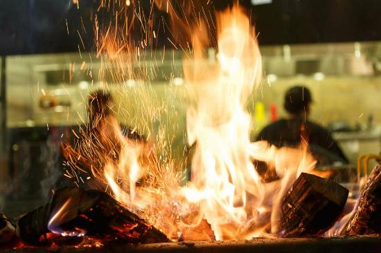 Firebirds Wood Fired Grill: Authentic local hardwood fired kitchen