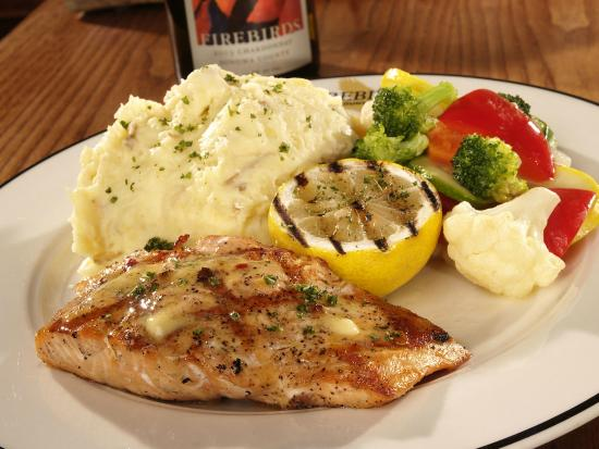 Firebirds Wood Fired Grill : Wood Grilled Salmon