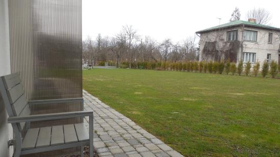 Prieka Pietura: The view outside the studio unit