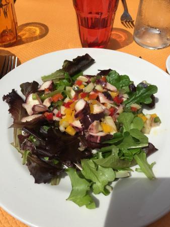 Le Romarin: salade de poulpe et crudités