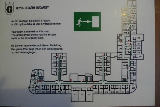 Hotel Gellert: План-схема