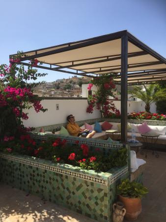 Les Bains Amani: Terrace