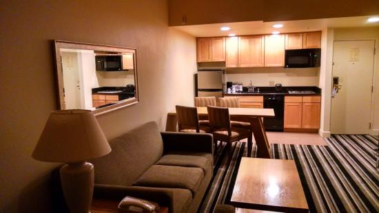 Living Room Kitchen Picture Of The Timbers Hotel Denver Tripadvisor
