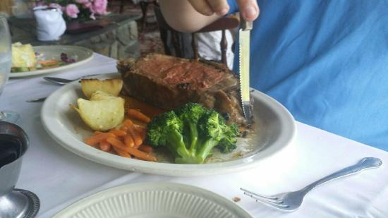 Kintnersville, PA: Prime Rib King Cut- Side View
