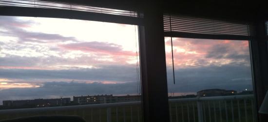 Windjammer Condominiums: Sunset from our unit! And another window around the corner  also