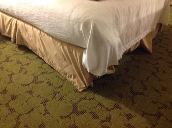 Hilton Garden Inn Montgomery East : This is the other bed skirt, when I checked in