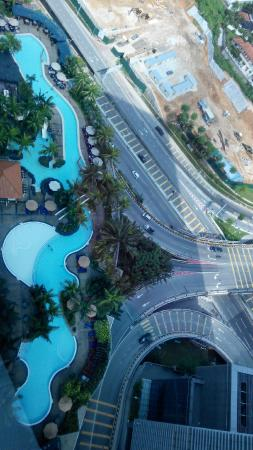 le meridien pool from hotel room with slides cool picture of le