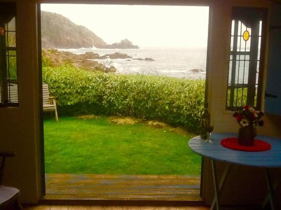 Cove Cottage: View from the beach house,