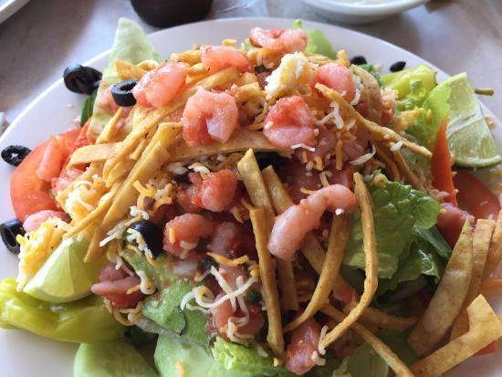 Longboarder Cafe : Salad with shrimp