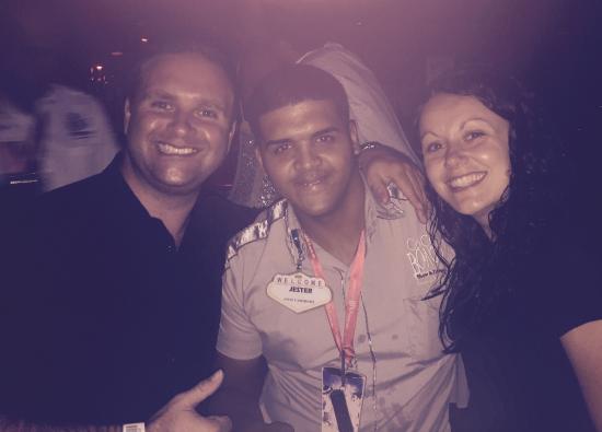 Punta Cana, Dominikanska Republiken: Our brilliant waiter for the night Jester