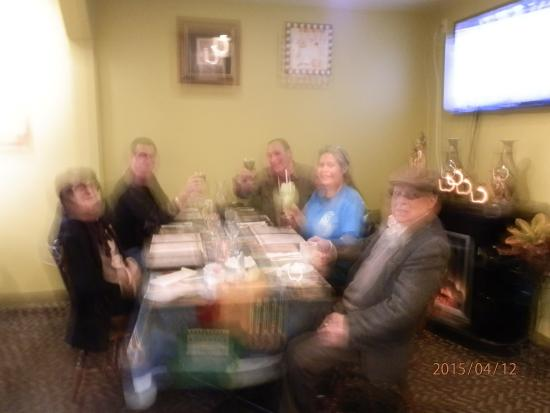 Theaann's Greek Palace: Not a clear shot but we are all there!!!
