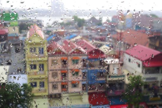 Casa Hotel: View from the seventh floor through early morning thunderstorm