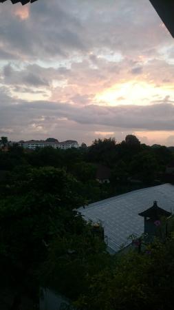 Sunrise from fourth floor landing