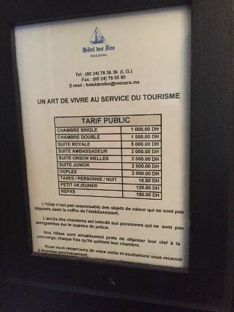 Hotel des Iles: Prezzi da 5 stelle quando ne merita forse 2