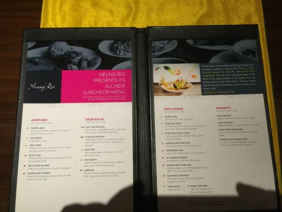 Neung Roi: The fixed luncheon menu makes ordering easy