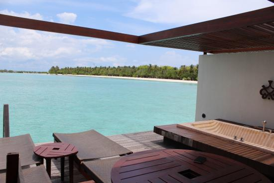 Water Villa Private Sun Deck Picture Of Paradise Island