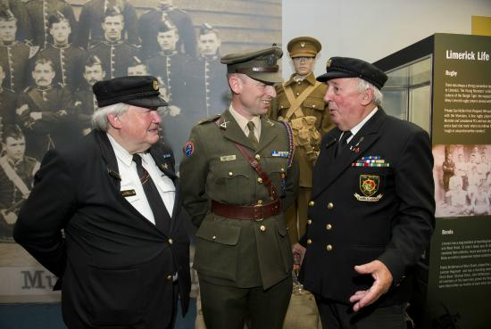 Limerick Museum: Military Men enjoying the Stand Up and Fight Exhibition