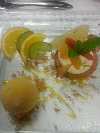Aigue Marine Restaurant: Exellent dessert agrume