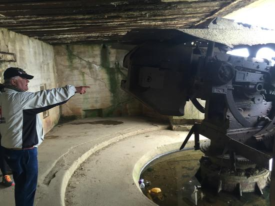 Victory Tours: Inside a German bunker that has the gun intact.