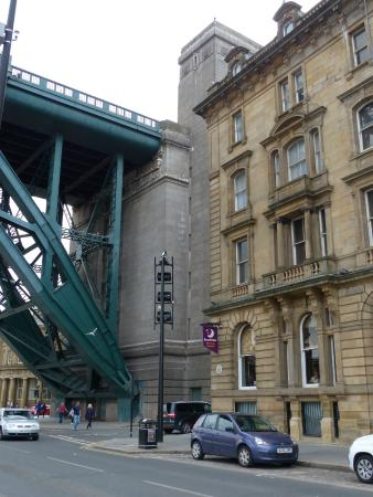 Hotel is right by the Tyne Bridge