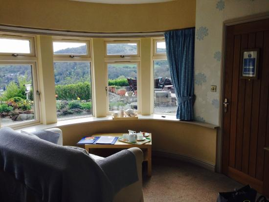 The Gables Bed & Breakfast: View from the Derwent Suite