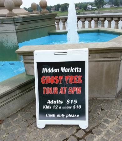 Hidden Marietta: Most of our tours start at the fountain, just across the street from our tour office