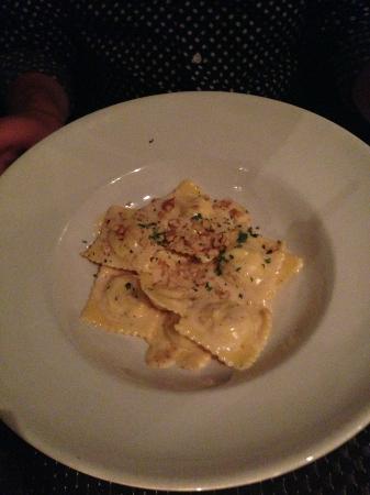 Cantina 27: Goat cheese and pear ravioli
