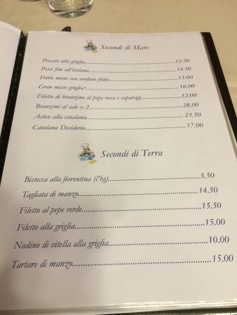 Ristorante Il desiderio: A peek at the menu