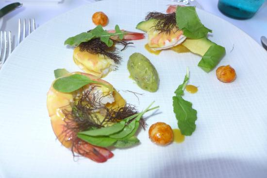 Orchids: Shrimp appetizer