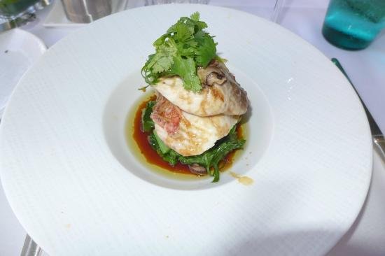 Orchids: Steamed onaga entree