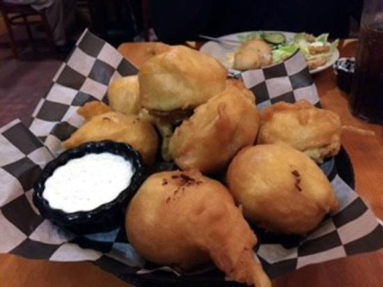 Newkirk, OK: HUGE breaded mushrooms...