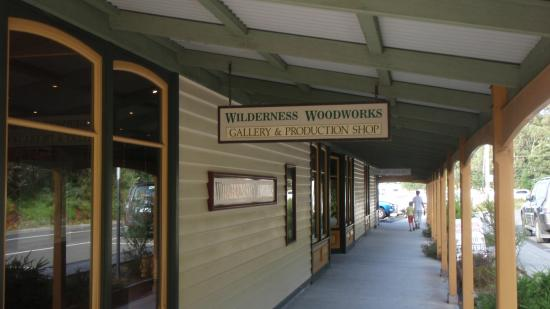Wilderness Woodworks: Front Entrance on the Esplanade