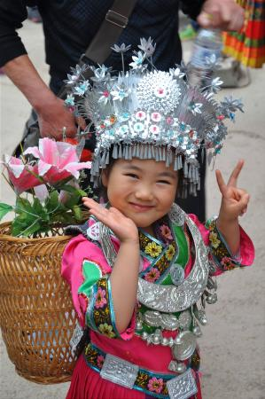 Longsheng County, Chine : Cute local girl