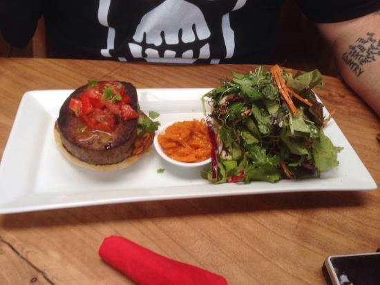 T.O.A.D Hall Store & Cafe: Lamb burger and blue cheese/mushroom pie. Oh my!!!