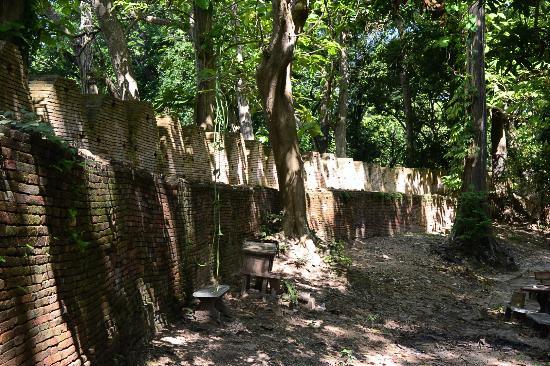 Chiang Saen - the old city walls : The Walls