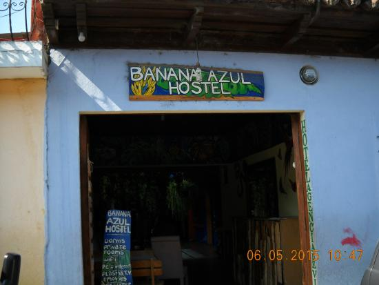 Front of Banana Azul Hostel