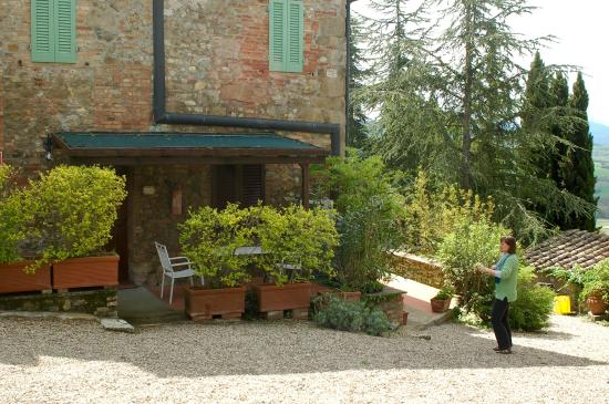 Il Colombaio di Mariva Benucci: You see the roof of our porch and one chair, notice how secluded
