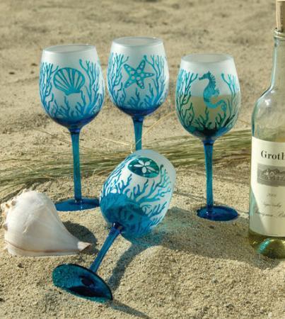 Hand Painted Wine Glasses Virginia Beach