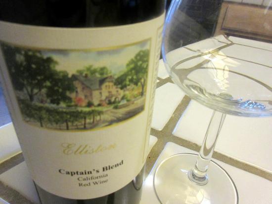 Elliston Vineyards, Captain Blend Wine, Sunol, Ca