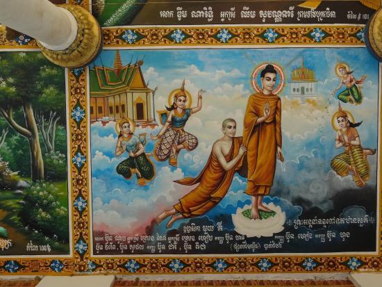 Ek Phnom: Another mural painted under the eaves